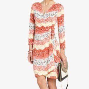 BCBGMAXAZRIA Sondra Lace Print Wrap Dress